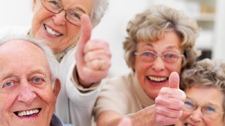 old people thumbs up